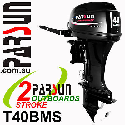 40HP PARSUN Outboard 2-stroke Short Shaft.  2yr FULL FACTORY WARRANTY  Brand New