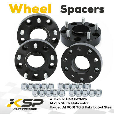 """2012-2018 Ram 1500 1.5"""" Hub Centric M14X1.5 5X5.5"""" Wheel Spacers Adapters"""