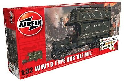 AIRFIX A50163 WWI B Type Bus 'Ole Bill' Gift Set 1:32 Scale