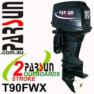 90HP OUTBOARD 2-stroke Extra Long Shaft PARSUN.  2yr FACTORY WARRANTY. Outboard