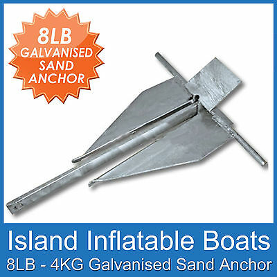 SAND ANCHOR ✱ 8lb / 4kg ✱ Hot dipped Galvanised. Boats up to 5 Metres FREE POST