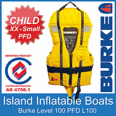 BURKE XXS 15-25KG CHILD TODDLER L100 LIFE JACKETBaby Lifejacket AS4758 FREE POST