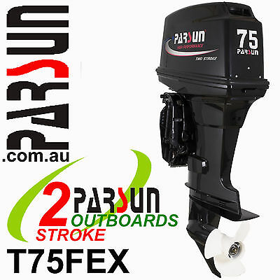 75HP OUTBOARD 2-stroke Extra Long Shaft PARSUN.  2yr FACTORY WARRANTY. Brand New