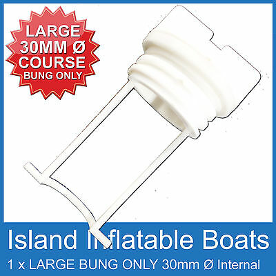 Large ✱ Replacement Bung Only White ✱ Drain Plug Boat Marine Bungs Coarse Thread