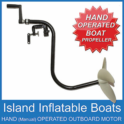 MANUAL HAND OPERATED OUTBOARD ✱ FREE WHEELING ✱ Small  Boats Tinnie FREE POSTAGE