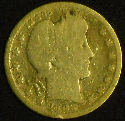 1908-D Barber Quarter. Free Shipping!!!!!!!!!!!!!!
