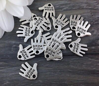 Bulk Hand Charms 5 10 or 20 pcs Hand Made Message Small Pendants CH316