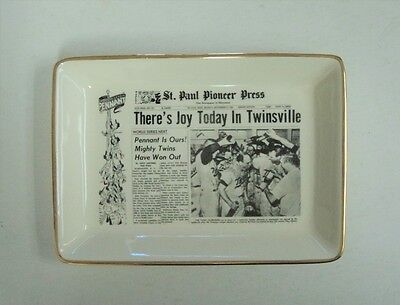 1965 Minnesota Twins Win the Pennant Pioneer Press Ash Tray Vintage FLASH SALE
