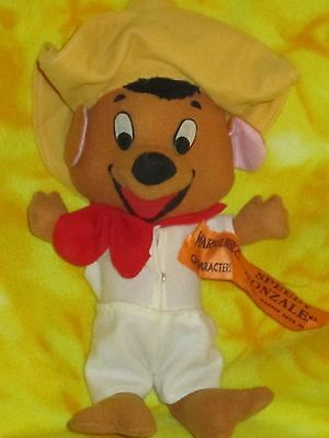 """Vintage 1971 Warner bros Speedy Gonzales Doll Toy Character 13"""" Mouse Cartoon"""