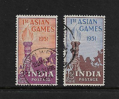 INDIA - 1951 First Asian Games, No.2, set of 2, used