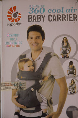 ERGOBABY 360 4 Position Ergo baby carrier_COOL AIR MESH CARBON GREY NEW IN BOX!!