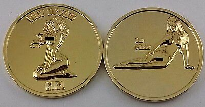 2 Coin Set of Nude Challenge Coins. Gold Tone Finish. 22% off.