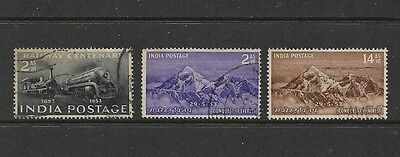 INDIA - 1953 Centenary of Indian Railways, Conquest of Mt Everest, used