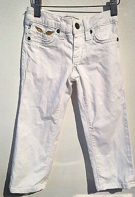 Robin's Jean Kids White Back Gold Wings Studded Back Loop  $159 - Sz 2T