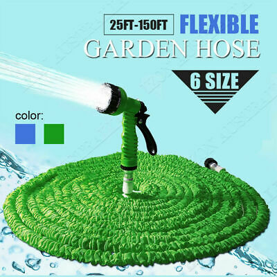 Flexible Expandable Expanding Garden & Lawn Water Hose 7 Function Spray Nozzle