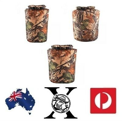 Camo Dry Bags 8L,15L,25L Outdoor Water resistant Canoe Camping Hiking Hunting