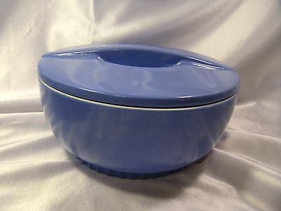Hall China Montgomery Ward Round Leftover Dish w/lid, #5121, early 1940-1955