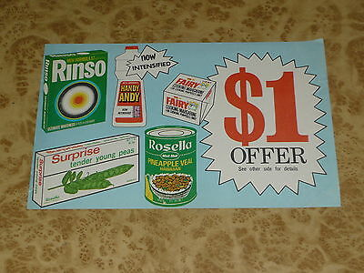 Original 1971 Rosella Rinso Handy Andy Advertising Vintage 70s Competition Form