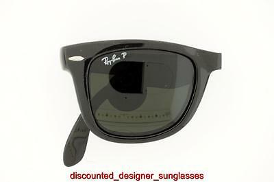 dcebd00336 Ray-Ban Polarized Sunglasses Rb 4105 601 58 60158 50Mm Black Green  Authentic New