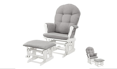 Gray Glider and Ottoman Nursery Furniture Home Low Price Chair Kids