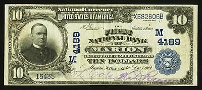 Marion, IN - $10 1902 Plain Back Fr. 627 The First NB Ch. # (M)4189
