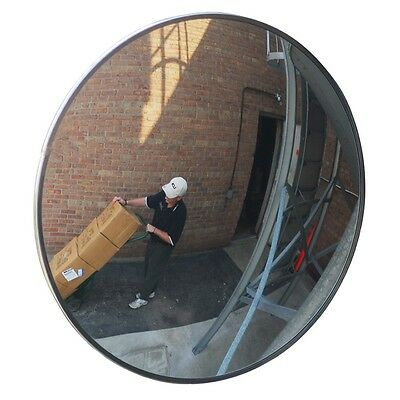 "New 24"" Convex Mirror Non Shattering Indoor/Outdoor Industrial Rated Security"