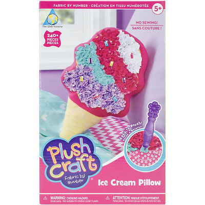 PlushCraft Fabric By Number Kit-Ice Cream Pillow