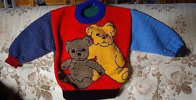 Big Ted And Little Ted ..new ..size 2...  Hand Knitted