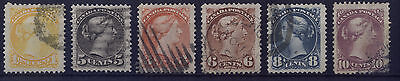 Canada Small Queens  - BIG JUMBO SIZE VARIETY - 6 Stamps - (Lot 9) Very Fine