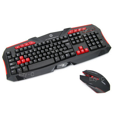 New 2.4G Wireless Gaming keyboard and Mouse Set Bundle Computer PC Multimedia AU
