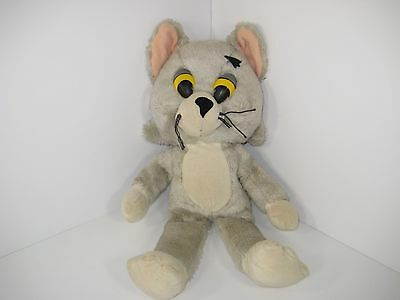 "Vintage Knickerbocker 1976 Tom And Jerry Plush Stuffed Animals Doll. TOM  15""in."