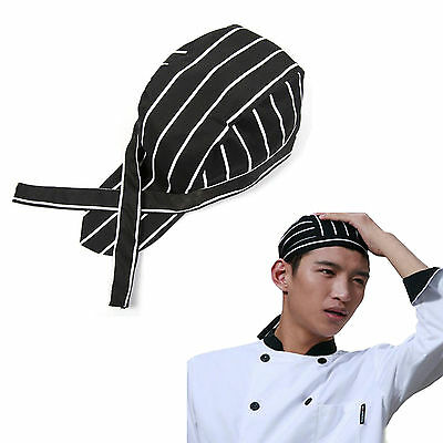 Cool Men Women Fashion Chef Hats Catering Baker Waiter Kitchen Cook Caps Stripes