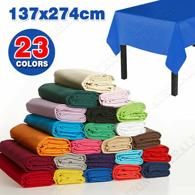 137X274cm  Tablecover Table Cover Plastic Tablecloth Birthday Wedding Party