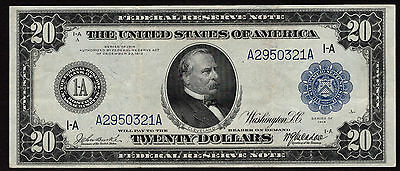 Fr 964 1914 $20 Federal Reserve Note Boston VF/XF