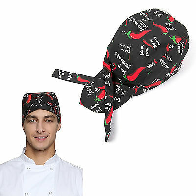 Men Women Fashion Chef Hats Catering Baker Waiter Kitchen Cook Caps Red pepper