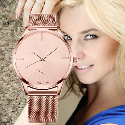 Women Ladies Wrist Watch fashion Bracelet Stainless Steel Unisex  Analog Quartz