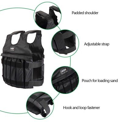 20kg Adjustable Weighted Vest With Sholder Pads Comfortable Weight Jacket Vest