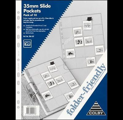 PACK of 10, 15x 35mm | 150 SLIDES SLEEVE POCKETS PROTECTOR REFILLS FILM ARCHIVAL