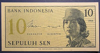 1964 Indonesia 10 Sen DOR 050994 =UNCIRCULATED=