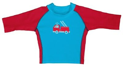 I Play Boys swimshirt Turquoise/Red UV Protection 50+ sz. 0-6, 24-36 Months