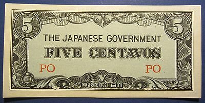 Phillipines Japanese Invasion Money JIM 5 Five Centavos PO =UNCIRCULATED=