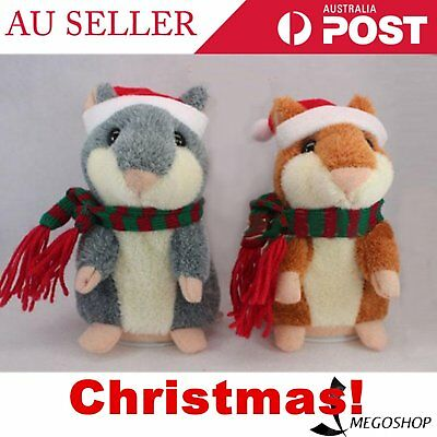 Pet Hamster Talking Plush Animal Toy Electronic Hamster Mouse BN Sell Well - AU