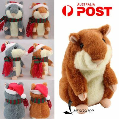 Christmas Pet Talking Hamster Plush Animal Toy Electronic Hamster Mouse 2018Gift