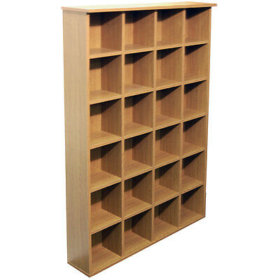 PIGEON HOLE - DVD and CD Storage - Oak 2448oc