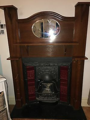 Cast Iron Fire Place and Mantle