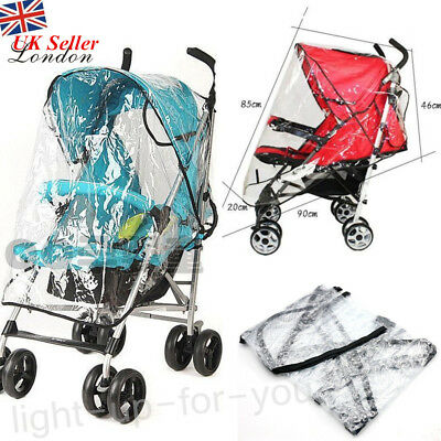 Universal Clear Baby Pram Stroller Buggy Pushchair Rain Cover Raincover Poncho