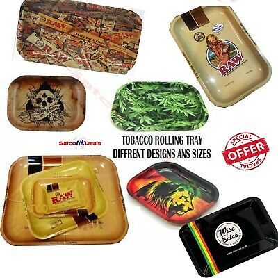 Raw Paper Rolling Tray Trays Small, Medium, Large, Extra Large - ALL SIZES