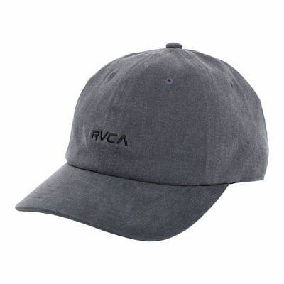 Rvca Tonally Dad Cap Dusty Black Cap Snap Back Ruca Hat Cap Snapback New Yupoong