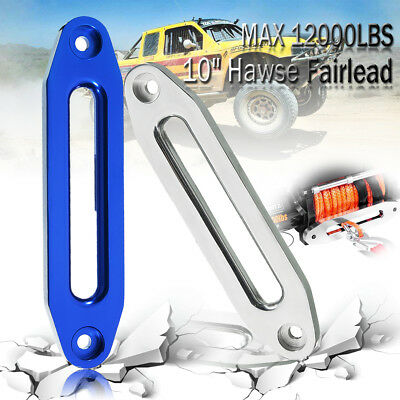 """10"""" 12000lbs Hawse Aluminum Fairlead For  Synthetic Winch Rope Guide Offroad 4WD"""
