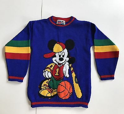 Vintage 80s 90s Disney Mickey's Stuff Mickey Mouse Children's Sweater Sports L 7